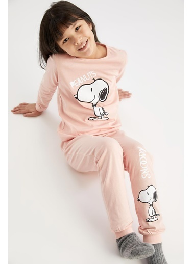 DeFacto Kız Çocuk Snoopy Lisanslı Pijama Takımı Pembe